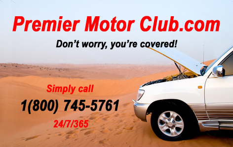 Premier motor club and road hazard protection program for Motor club service provider application
